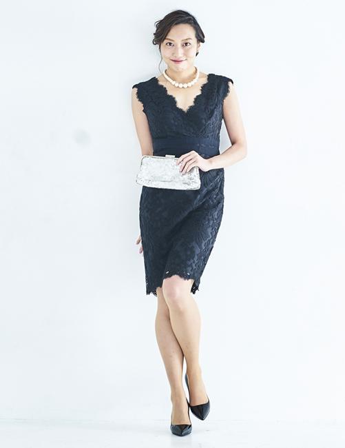 TADASHI SHOJI レース刺繍ドレス