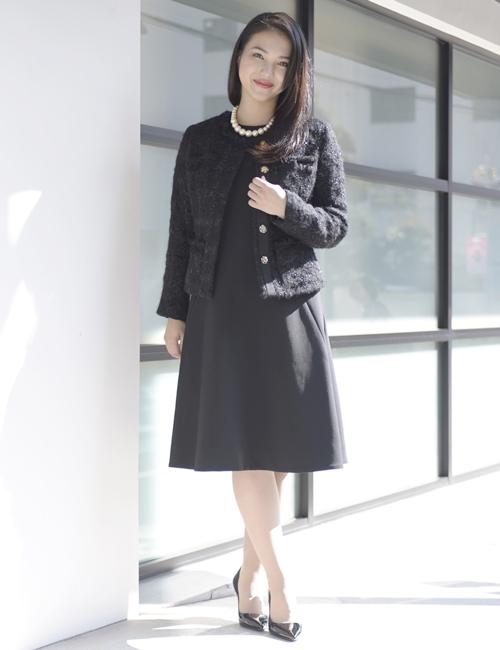 YOKO CHAN フレアドレス+Milly ラメツイードジャケット SET
