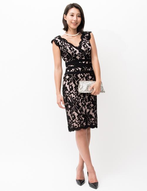 TADASHI SHOJI,レース刺繍ドレス