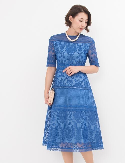 刺繍,ブルー,ロング